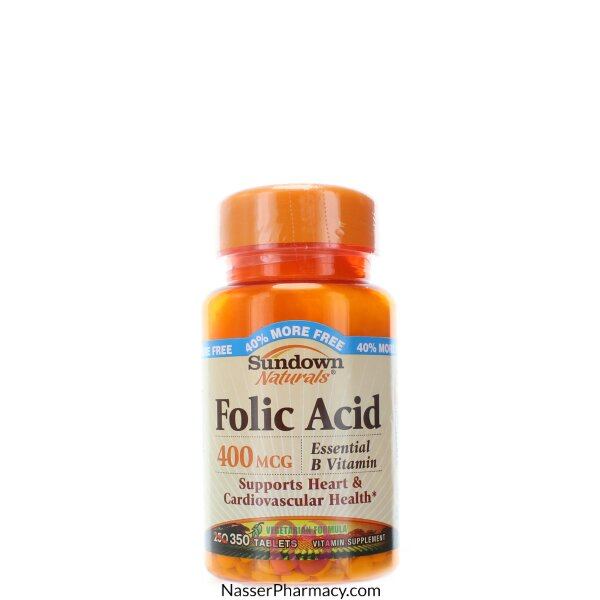 Sundown Naturals Folic Acid 400 Mcg - 350 Tablets