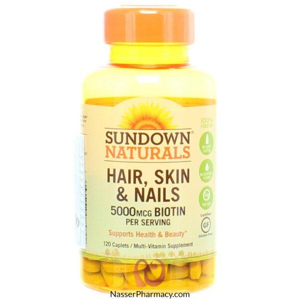 Sundown Naturals, Hair, Skin & Nails, 120 Caplets