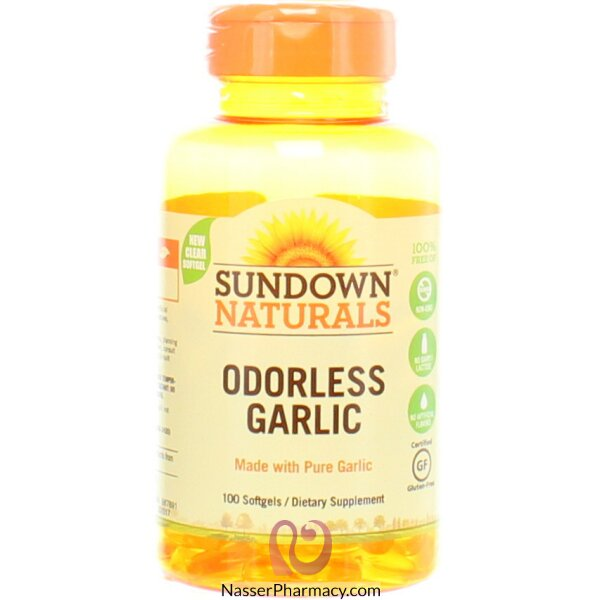 Sundown Naturals, Odorless Garlic, 100 Softgels