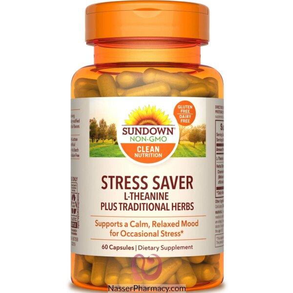 Sundown Naturals, Stress Formula, L-theanine, 60 Capsules
