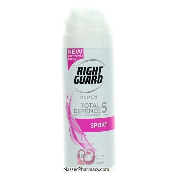 رايت جارد Right Guard سبورت توتال ديفينس5 مزيل العرق للنساء 150 مل