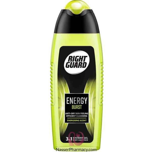 Right Guard Shower Gel Energy Burst 250ml