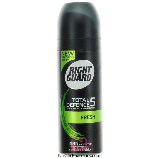 Right Guard Total Defence 5 Fresh Antiperspirant 150ml