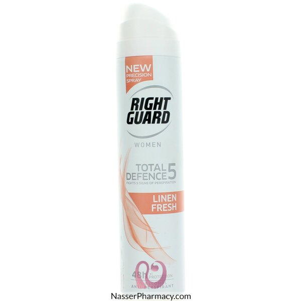 Right Guard Total Defence 5 Linen Fresh Antiperspirant 250ml