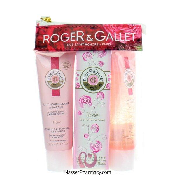 روجية وجالية Roger & Gallet ( R & G )  حقيبة سفر بالورد