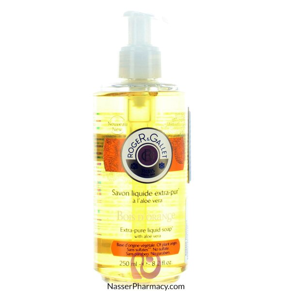 Roger & Gallet ( R & G )   Bois D&#39orange Liquid Soap - 250 Ml