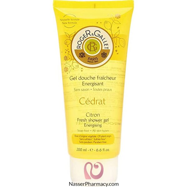 Roger & Gallet ( R & G )  Citron Fresh Shower Gel - 200ml