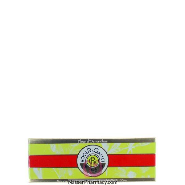 Roger & Gallet  ( R & G )  Fleur D&#39osmanthus Perfumed Soap 3*100gr