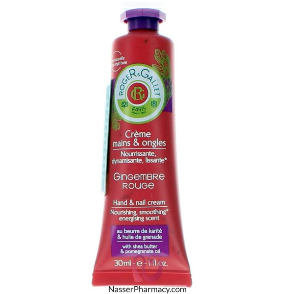 Roger & Gallet ( R & G )  Gingembre Rouge Hand And Nail Cream - 30ml