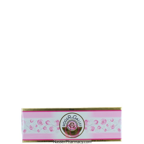 Roger & Gallet   ( R & G )  Rose Perfumed Soap Coffret  3x100g