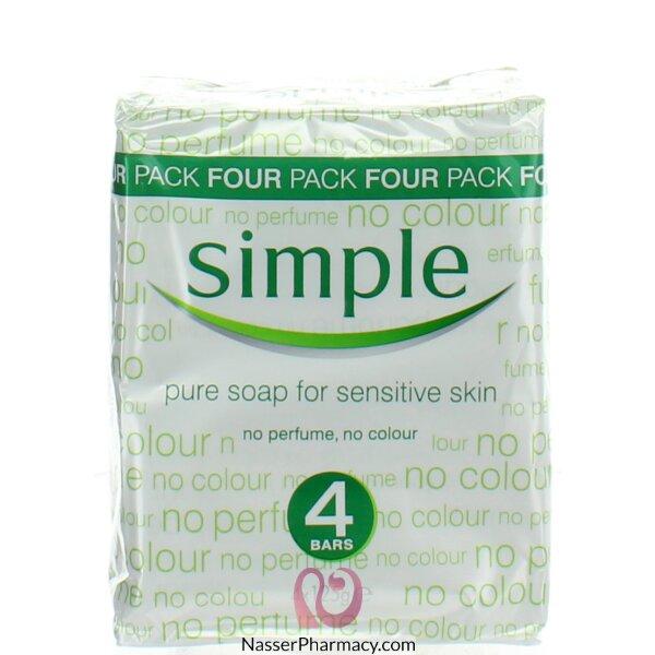 سيمبل صابون للبشرة الحساسة- 125 جم* 4 قطعة