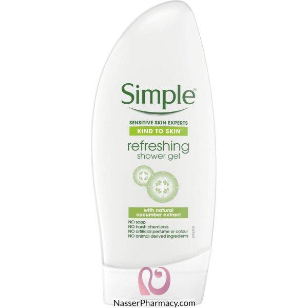 سيمبل Simple  جل استحمام منعش للجسم 250 مل