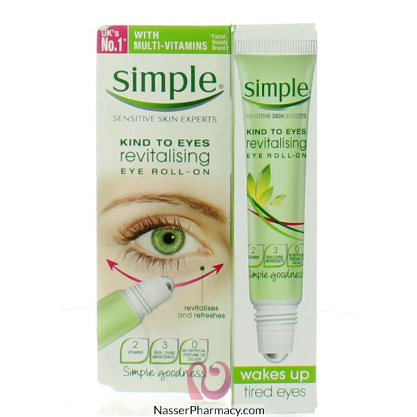 Simple Kind To Eyes Revitalising Roll On 6x15ml