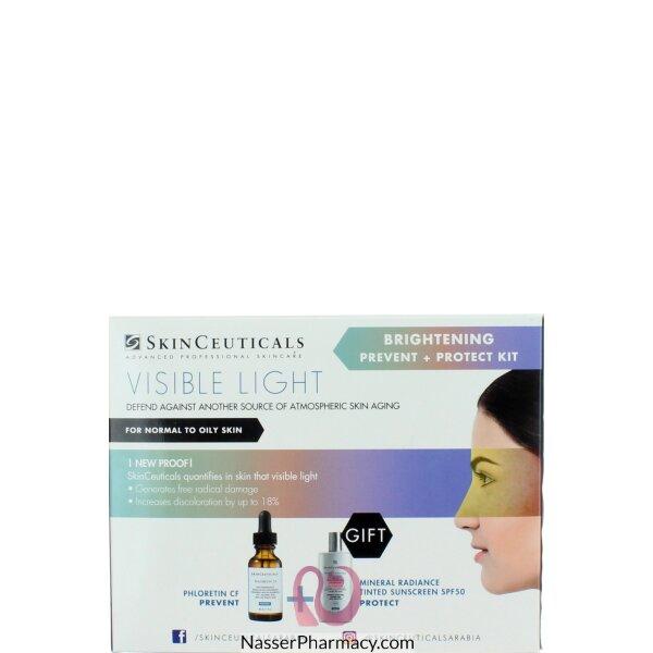 سكين سيوتيكالز Skinceuticals  مجموعة الوقاية + الحماية لإشراقة البشرة