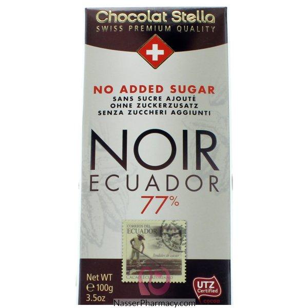 شوكولاتة ستيلا شوكولاتة داكنة 77% كاكاو بدون اضافة سكر - 100جم