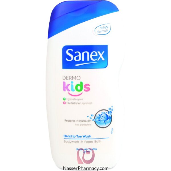 Sanex Kids Body Wash & Foam Bath 500ml