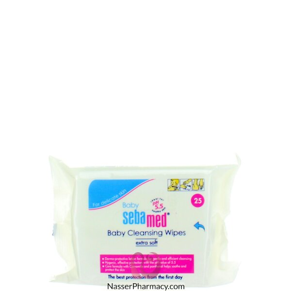Sebamed Baby Cleansing Wipes  25 Pieces