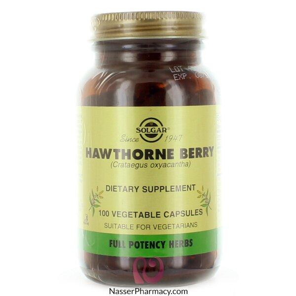 سولجار الزعرور Solgar (hawthorne Berry) مكمل غذائي - 100 كبسولة نباتية