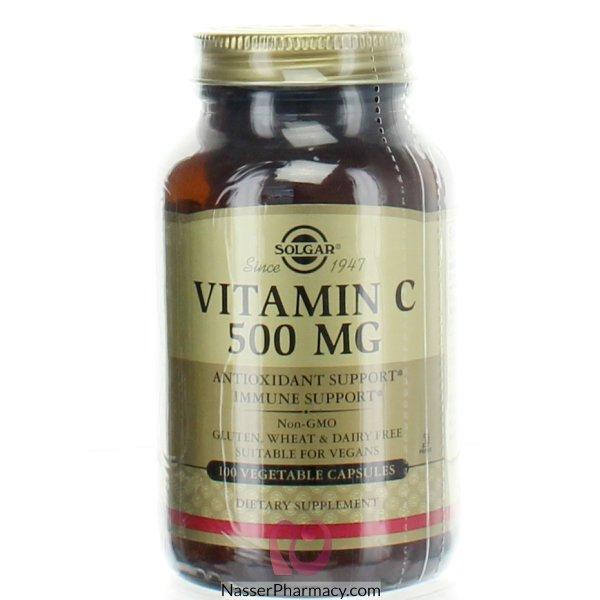 سولجار  فيتامين سي 500 Mg - 100 كبسولة