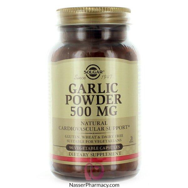 سولجار   Solagar مكمل غذائي بودرة ثوم 500 مجم - 90 كبسولة نباتية