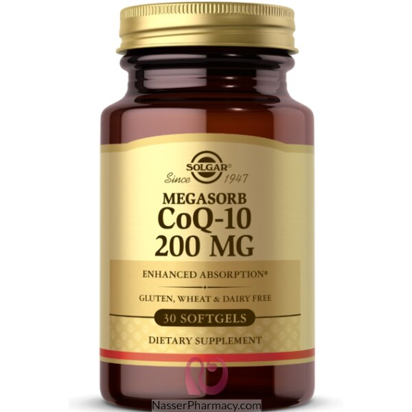 سولجار Solgar-  أنزيم Coq-10  جرعة 200ملغ، 3 كبسولة نباتية