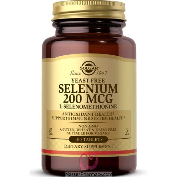 سولجار Solgar, السيلينيوم، 200 مكجم، 100 مضغوطة