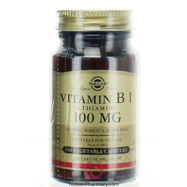 سولجار Solgar  فيتامين  ب 1  - 100 مجم - 100 قرص