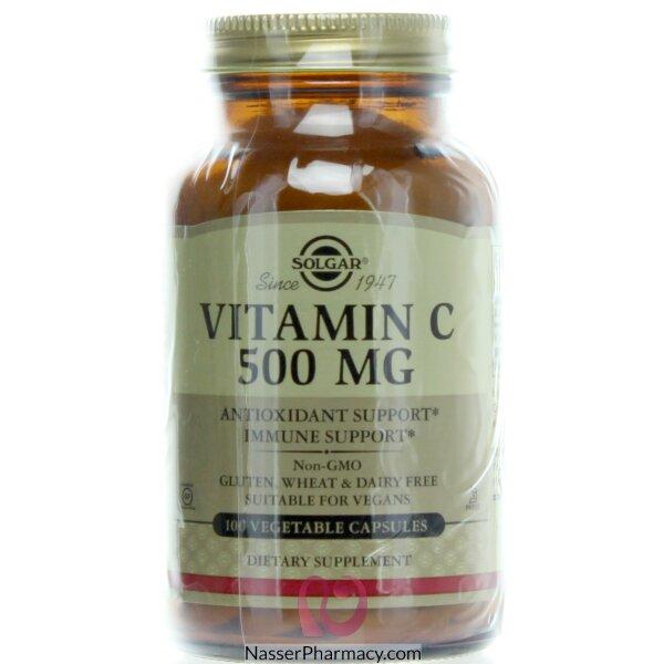 سولجار Solgar -  فيتامين سي 500ملغ - 100 كبسولة  نباتية