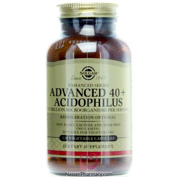 سولجار Solgar  مكمل غذائي (40+ Acidophilus) تركيبة متقدمة - 120 كبسولة نباتية