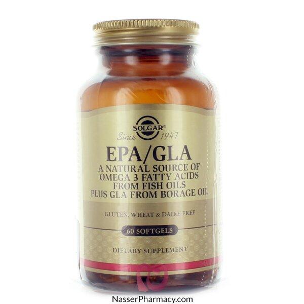 سولجار Solgar  ( Epa/gla) مصدر طبيعي للأوميجا 3 - 60 كبسولة