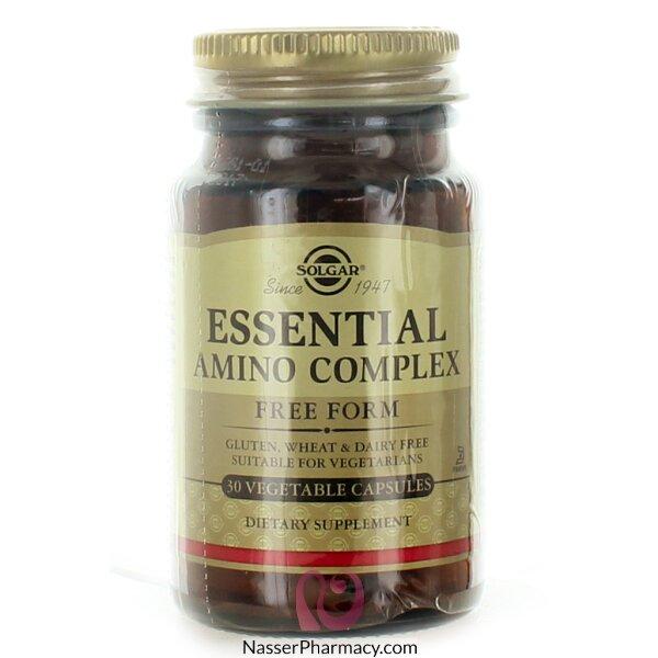 سولجارsolgar  مكمل غذائي الأحماض الأمينية الأسياسية - 30 كبسولة نباتية