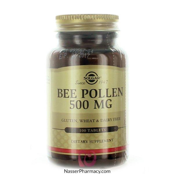 سولجارsolgar  مكمل غذائي لقاح النحل 500 مجم - 100 قرص