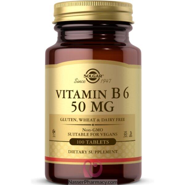 Solgar سولجار , فيتامين ب6، 50 ملغم، 100 قرص