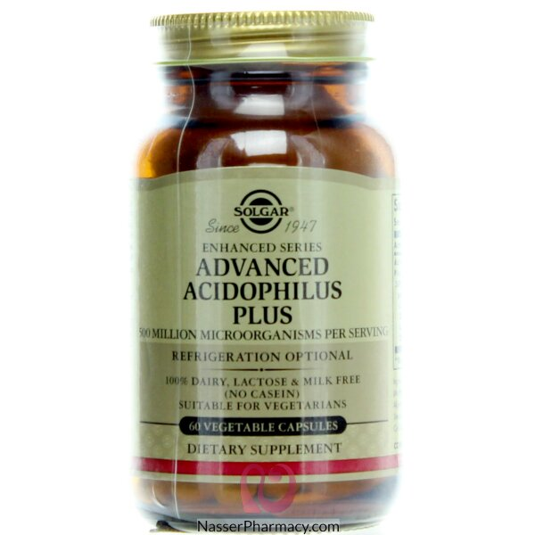 Solgar  Advanced Acidophilus Plus Vegetable Capsules 60's