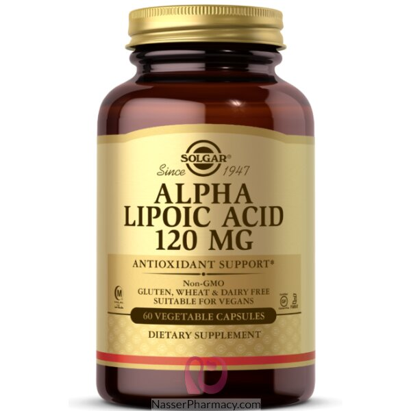 Solgar Alpha-lipoic Acid 120 Mg Vegetable Capsules  60's