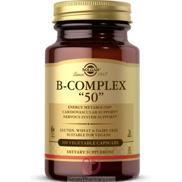 Solgar B-complex 50 Vegetable Capsules - 100 Capsules