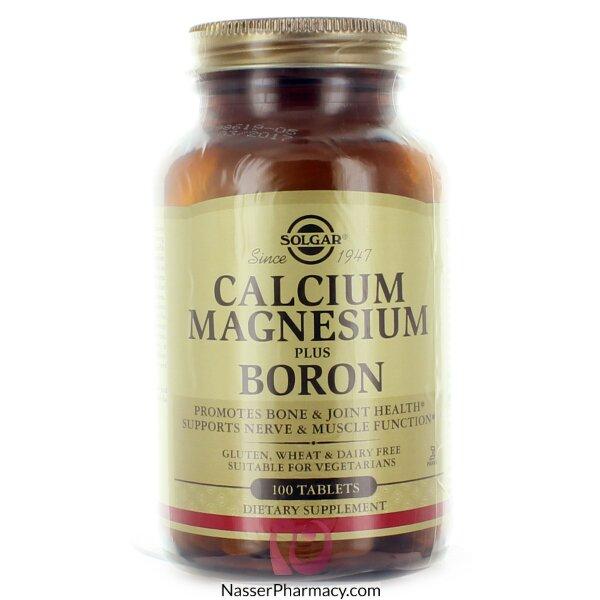 Solgar Calcium Magnesium Plus Boron - 100 Tablets
