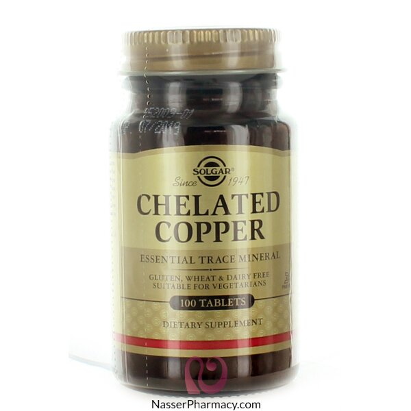Solgar Chelated Copper Tablets - 100tablets