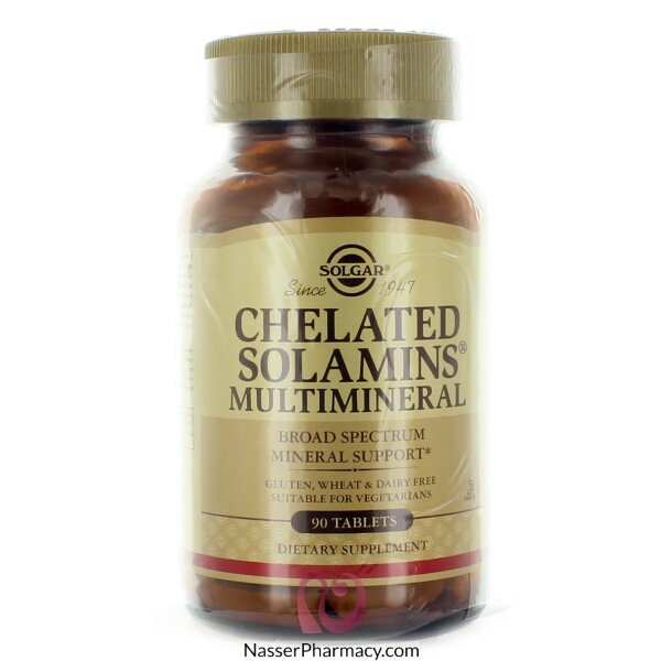 Solgar Chelated Solamins Multimineral Supplement - 90 Tablets