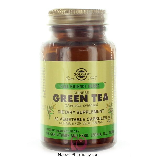 Solgar Chinese Green Tea Leaf Extract - 50 Vegetable Caps