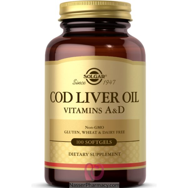 Solgar Cod Liver Oil Vitamin A & D - 100 Softgels