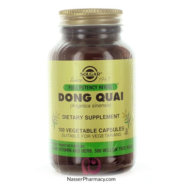 Solgar Dong Quai - 100 Vegetable Capsules