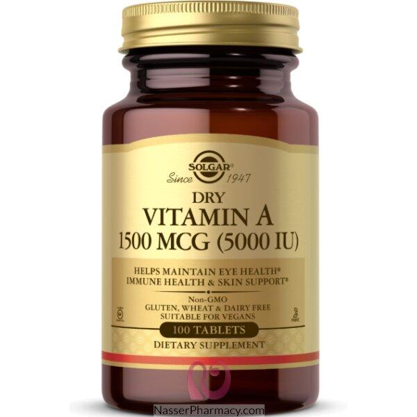 Solgar Dry Vitamin A 5000 Iu - 100 Tablets