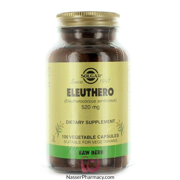 Solgar Eleuthero 520 Mg Vegetable Capsules - 100 Vegetable Capsules