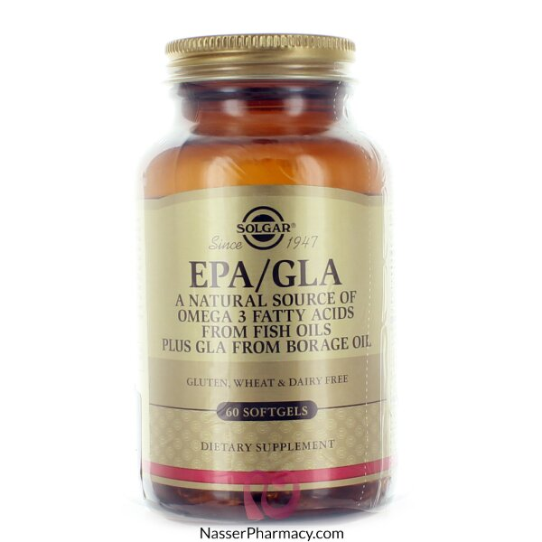 Solgar Epa/gla (omega3) - 60 Softgels