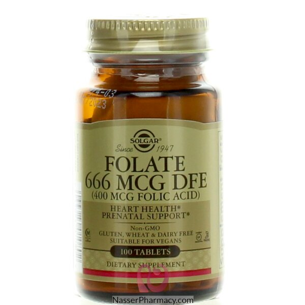 Solgar Folic Acid 400 Mcg -100 Tablets