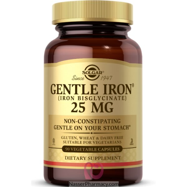 Solgar Gentle Iron 25 Mg -90 Vegetable Caps