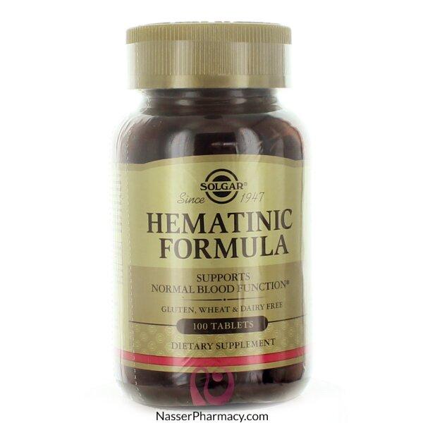 Solgar Hematinic Formula - 100 Tablet