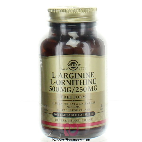 Solgar L-arginine/l-ornithine 500 Mg/250 Mg -50 Capsules