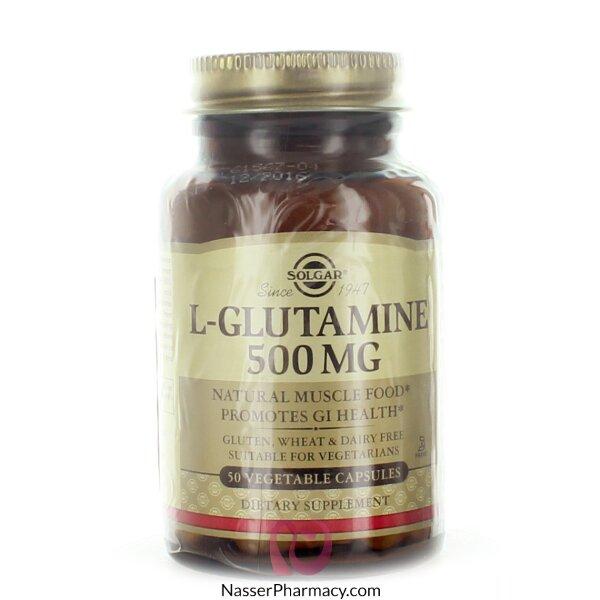 Solgar L-glutamine 500 Mg - 50 Vegetable  Caps